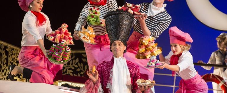 Garsington Opera, L'italiana in Algeri 2016 - Quirijn de Lang (Mustafà) Credit: Johan Persson