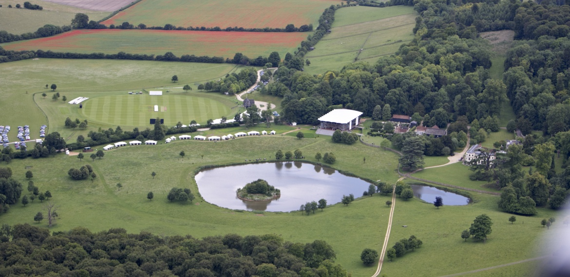 Wormsley from the air