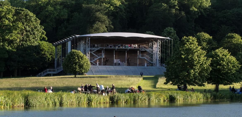 Garsington Opera Pavilion and lake