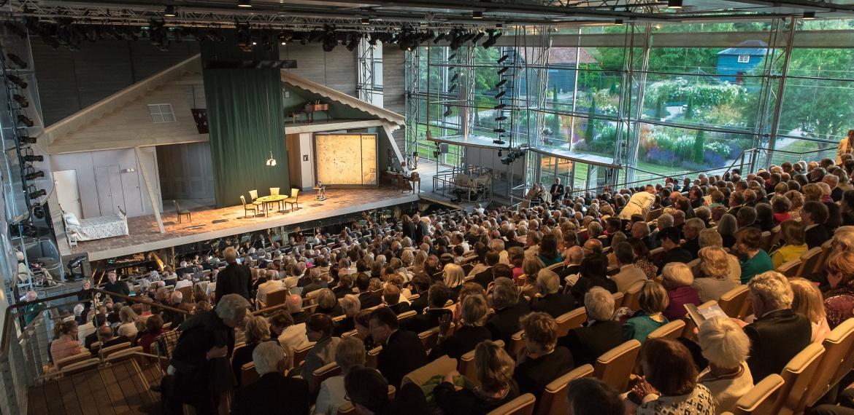 Inside the Garsington Opera auditorium Credit: Clive Barda