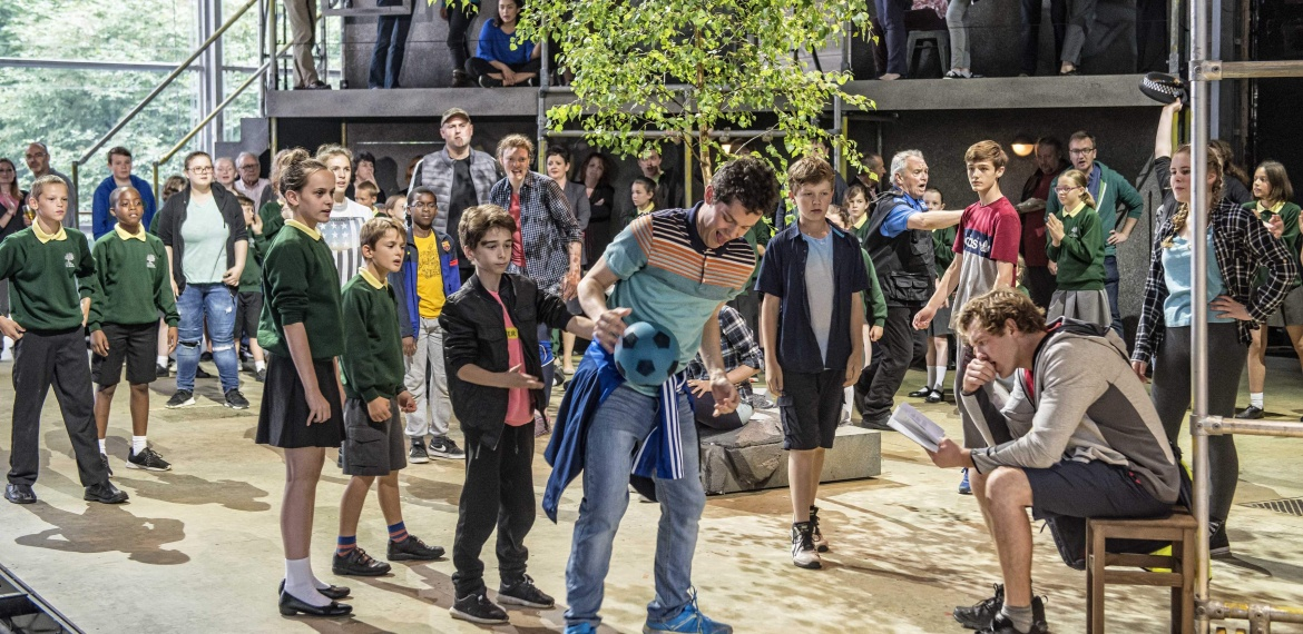 Garsington Opera 2017 Silver Birch James Way (Davey), Sam Furness (Jack) with community chorus credit John Snelling