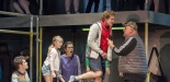 Garsington Opera 2017 Silver Birch James Way (Davey), Katya Harlan (Chloe), Victoria Simmonds (Anna), Sam Furness (Jack), Darren Jeffery (Simon) credit John Snelling