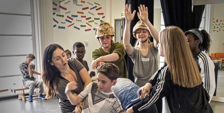 Garsington Youth Opera Company rehearse Silver Birch