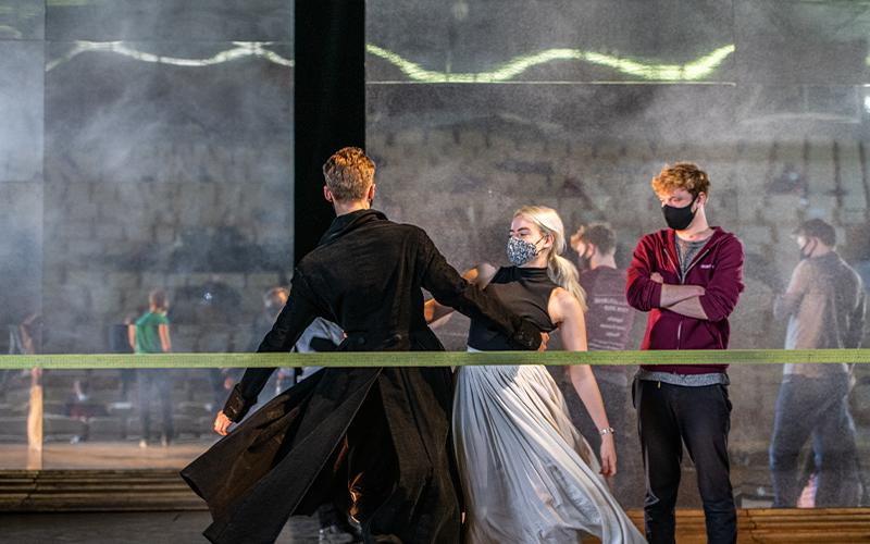 Rachel Laird dancing with Jonathan Mewett