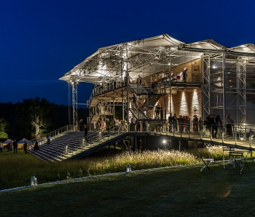 Garsington Opera Pavilion at night