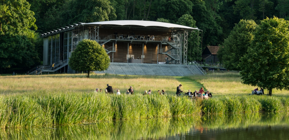 Garsington Opera Pavilion and lake