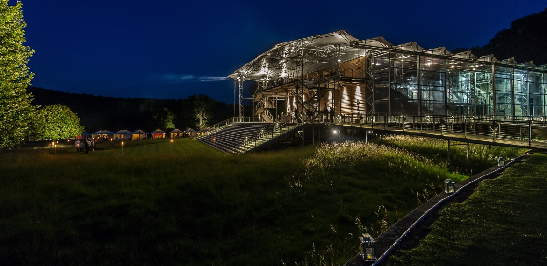 Garsington Opera Pavilion at night
