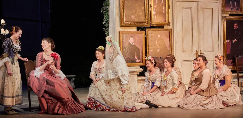 Le nozze di Figaro Garsington Opera 2017 Jennifer France (Susanna), Kirsten MacKinnon (Countess), Alison Rose (Barbarina) credit Mark Douet-min.jpg