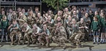 Garsington Opera 2017 Silver Birch Community Chorus with James Way (Davey) credit John Snelling
