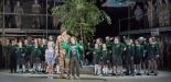 Garsington Opera 2017 Silver Birch Bradley Travis (Siegfried Sassoon), Katya Harlan (Chloe), Sam Furness (Jack), William Saint (Leo) with community chorus credit John Snelling